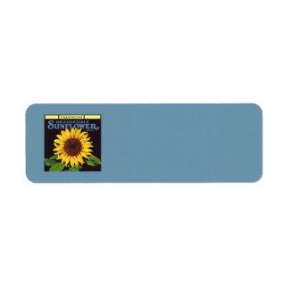 Orangedale Sunflower Vintage Fruit Crate Label Art