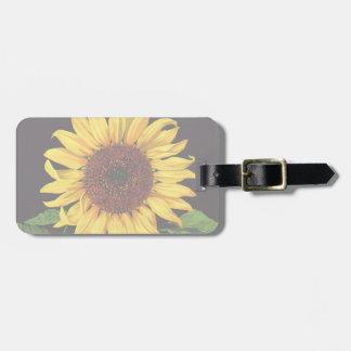 Orangedale Sunflower Vintage Fruit Crate Label Art Travel Bag Tag