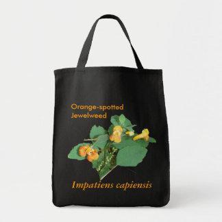 OrangeFlowers3, capiensis de Impatiens, Naranja-sp Bolsa Tela Para La Compra