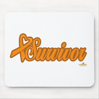 OrangeHeartRibbonSurvivor - Customized Mouse Pad