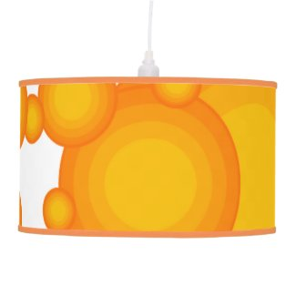 Oranger 70s styling circles like bubbles hanging lamp