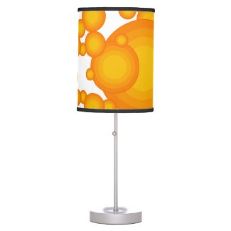 Oranger 70s styling circles like bubbles table lamp