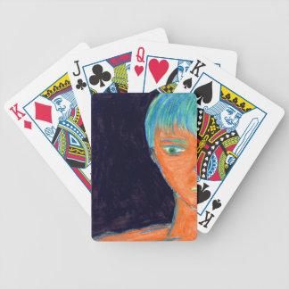 Oranger Mann Spielkarten