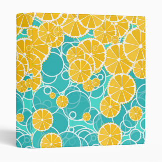 Oranges and bubbles binder
