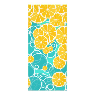 Oranges and bubbles rack card