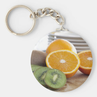 Oranges and Kiwis Keychain