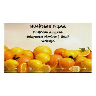 Oranges And Lemons Business Card