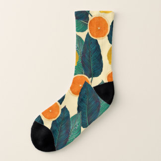 Oranges And Lemons Cream Socks