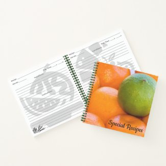 Oranges and Lime Close-Up Photograph Notebook