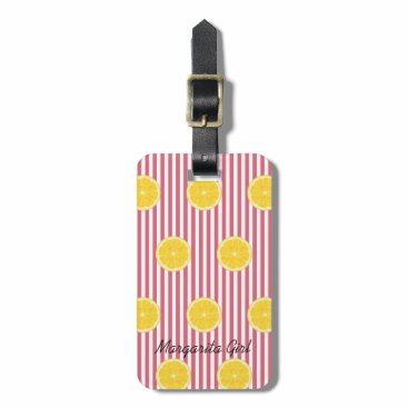 McTiffany Tiffany Aqua Oranges And Nantucket Red Fiesta Party Luggage Tag