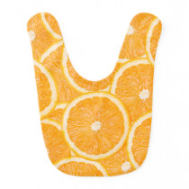 Oranges baby bib