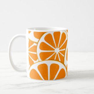 oranges. coffee mug