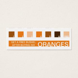 ORANGES customer appreciation (mod squares) Mini Business Card