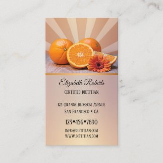 Oranges Dietitian Nutritionist Business Card