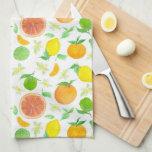 Oranges Grapefruit Lemons Citrus Fruit Watercolor Kitchen Towel
