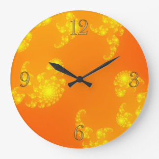 Oranges Julia Fractal Abstract Art Wall Clock