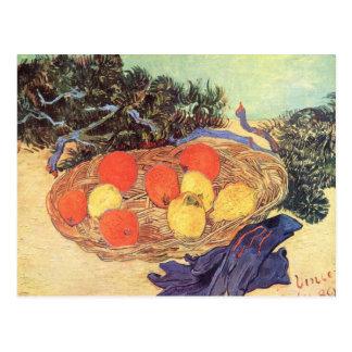 Oranges, lemons and blue gloves by van Gogh Postcard