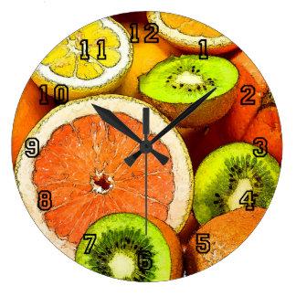 Oranges Lemons Grapefruit Kiwi Clock