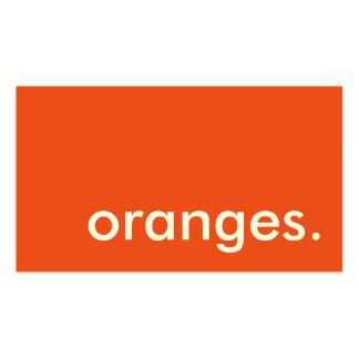 oranges. loyalty punch card