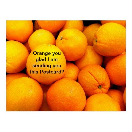 Oranges on a Postcard Funny Fruit Food Card