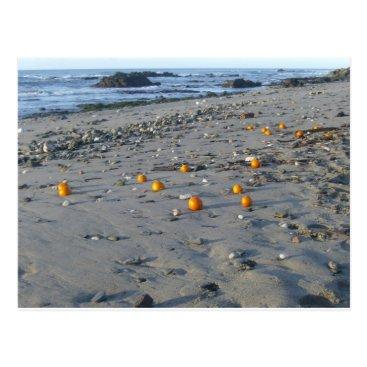 Beach Themed Oranges on a Spanish beach Postcard