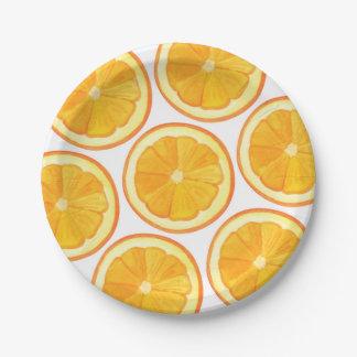 Oranges - Paper Plates