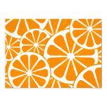 oranges personalized invitation