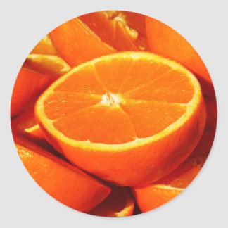 Oranges Photograph Classic Round Sticker
