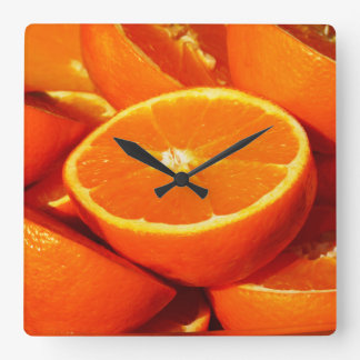 Oranges Photograph Square Wall Clock