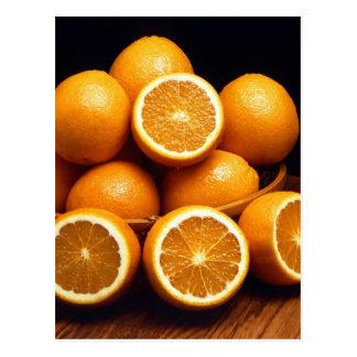 Oranges Piled Up Postcard