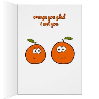 Orange Valentine Greeting Cards | Zazzle
