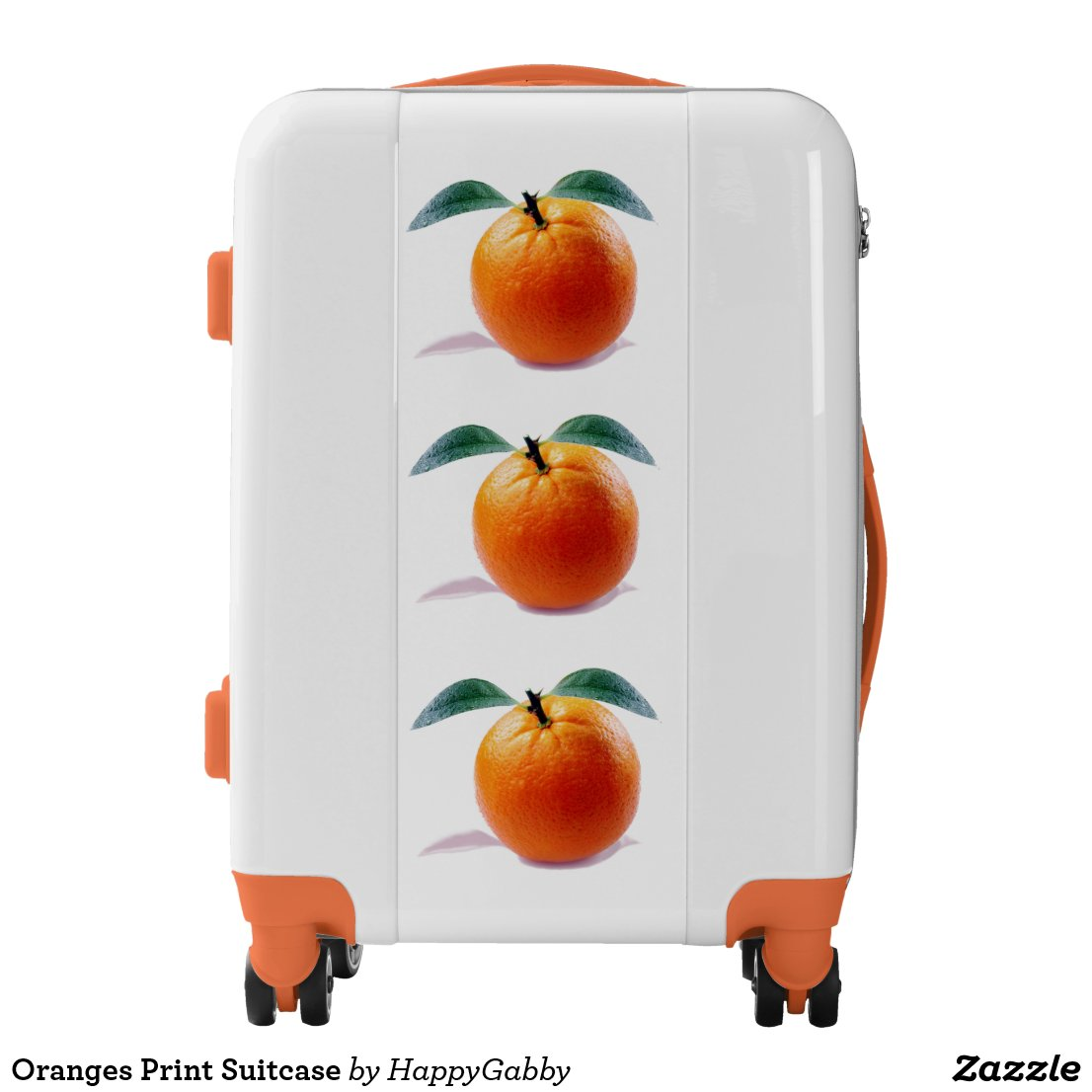 Oranges Print Suitcase Luggage