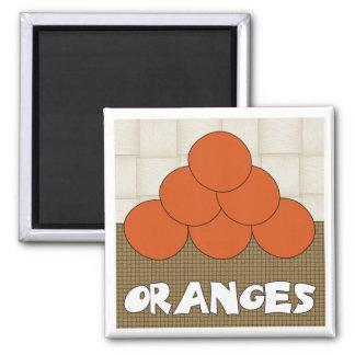 Oranges Series 1 Square Magnet