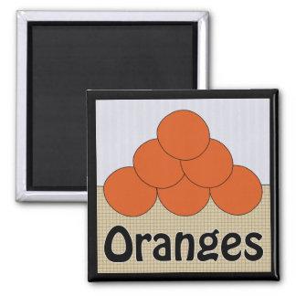 Oranges Series 2 Square Magnet