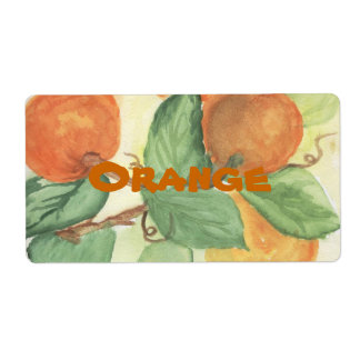 ORANGES SHIPPING LABEL