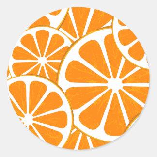 oranges. classic round sticker