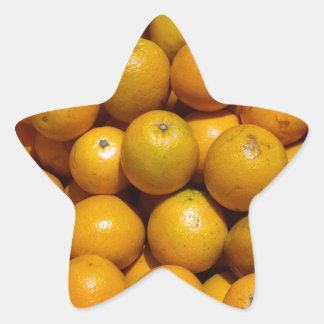 Oranges Star Sticker