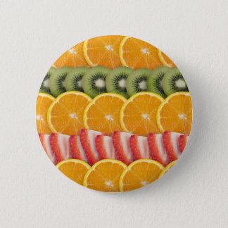 Oranges, Strawberries and Kiwi Fruit Button