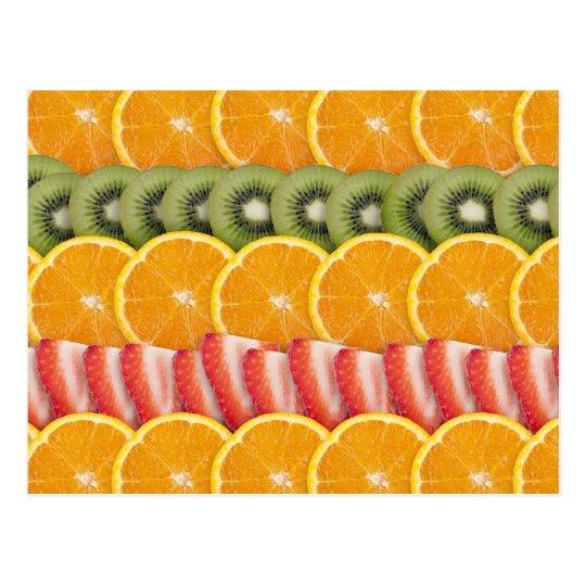 Oranges, Strawberries and Kiwi Fruit Postcard