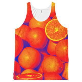 Oranges Unisex Tank Top All-Over Print Tank Top