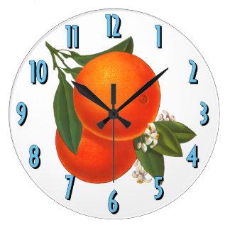 Oranges Vintage Crate Art Kitchen Clock