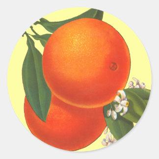 Oranges Vintage Crate Art Sticker