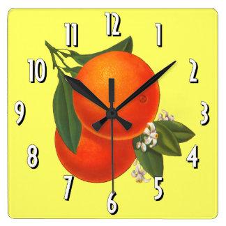 Oranges Vintage Crate Art Wall Clock