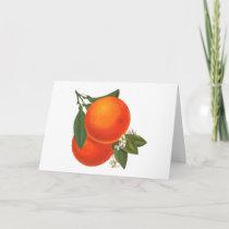 Oranges Vintage Crate Blank Art Card