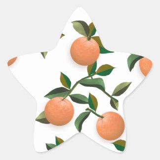 Oranges Vintage Wallpaper Star Sticker
