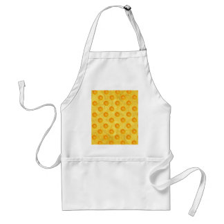 Oranges with yellow background adult apron