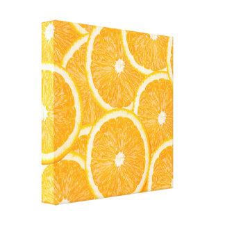 Oranges wrapped canvas print