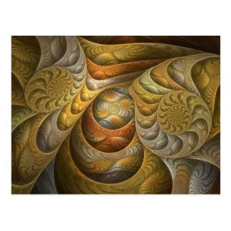 Orangesicle Swirls Postcard