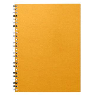 OrangeSolidPaper CREAMSICLE ORANGE SOLID COLOR BAC Note Book
