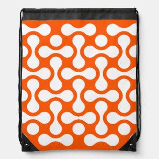 ORANGEWHITE Back Pack GRAPHIC ART Drawstring Bag